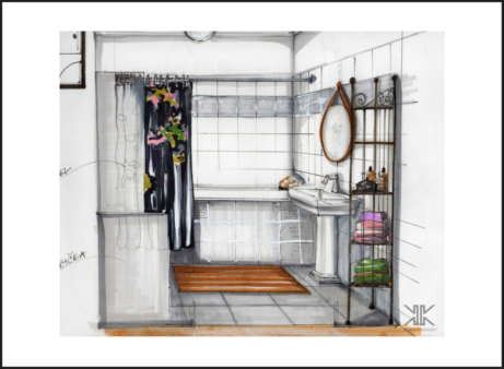 Realizace interiérů Praha_koupelna