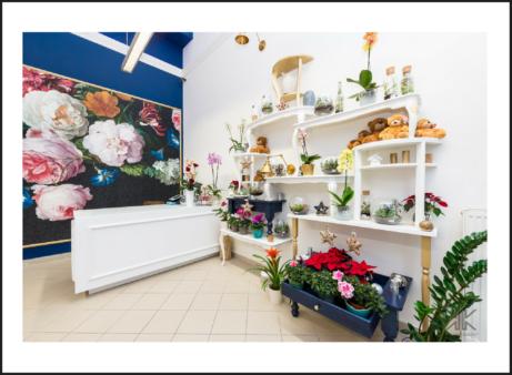 Květinářství_zakázkové interiéry Praha_Komerční prostory