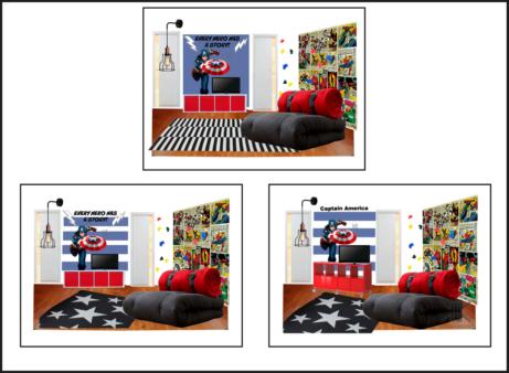 DHKK_Dětská herna_Captain America_INTERIÉR NA ZAKÁZKU PRAHA